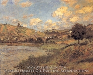 Vetheuil Landscape by Claude Monet