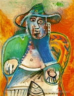 Vieil Homme Assis, Mougins by Pablo Picasso (inspired by)
