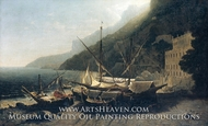 View at Amalfi, Bay of Salerno by George Loring Brown
