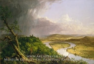 View from Mount Holyoke, Northampton, Massachusetts, after a Thunderstorm, The Oxbow by Thomas Cole