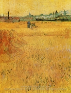 View from the Wheatfield, Arles by Vincent Van Gogh