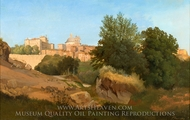 View of Ariccia painting reproduction, Gustaf Wilhelm Palm