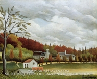 View of Bievre-sur-Gentilly by Henri Rousseau