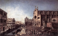View of Campo Santi Giovanni E Paolo painting reproduction, Francesco Albotto