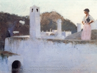 View of Capri painting reproduction, John Singer Sargent