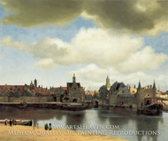 View of Delft by Jan Vermeer