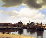 View of Delft painting reproduction, Jan Vermeer