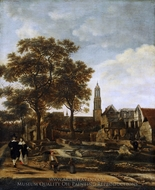 View of Delft after the Explosion of 1654 painting reproduction, Daniel Vosmaer