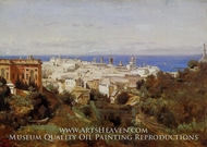 View of Genoa from the Promenade of Acqua Sola by Jean-Baptiste Camille Corot