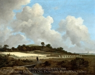 View of Grainfields with a Distant Town painting reproduction, Jacob Van Ruisdael