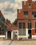View of Houses in Delft by Jan Vermeer