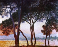 View of Juan-Les-Pins painting reproduction, Claude Monet