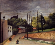 View of Malakoff painting reproduction, Henri Rousseau