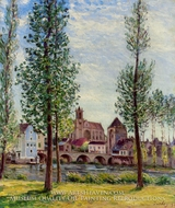 View of Moret-sur-Loing through the Trees by Alfred Sisley