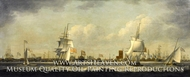 View of Mr. Perry's Yard, Blackwall painting reproduction, William Dixon