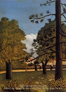 View of Parc de Montsouris by Henri Rousseau