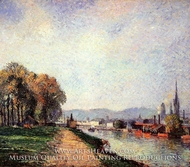 View of Rouen (Vours-la-Riene) by Camille Pissarro