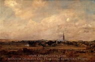 View of Salisbury painting reproduction, John Constable