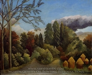 View of the Banks of the Oise painting reproduction, Henri Rousseau