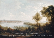 View of the Bay and City of New York from Weehawken by Robert Havell Jr.