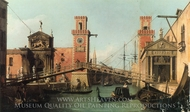 View of the Entrance to the Arsenal painting reproduction, Canaletto