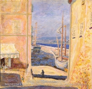 View of the Old Port, Saint-Tropez by Pierre Bonnard