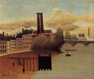 View of the Outskirts of Paris painting reproduction, Henri Rousseau