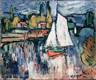 View of the Seine by Maurice De Vlaminck