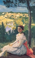 View of the Village painting reproduction, Jean Frederic Bazille