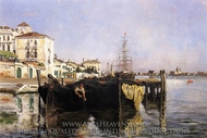 View of Venice painting reproduction, John Henri Twachtman