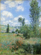 View of Vetheuil painting reproduction, Claude Monet