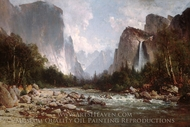 View of Yosemite Valley painting reproduction, Thomas Hill