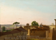 View on the Quirinal Hill, Rome painting reproduction, Simon Denis