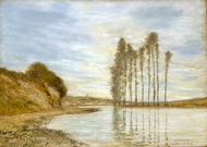 View on the Seine: Harp of the Winds painting reproduction, Homer Dodge Martin