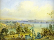 View To Bosphorus painting reproduction, Amedeo Preziosi