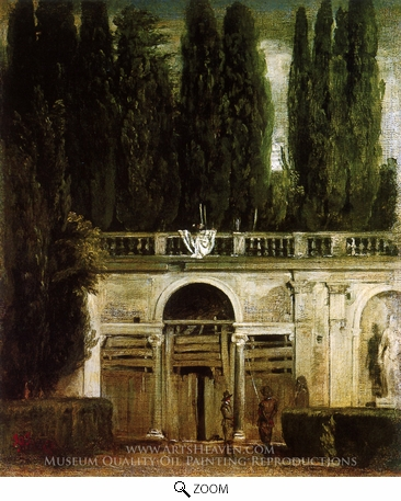 Painting Reproduction of Villa Medici in Rome, Diego Velazquez
