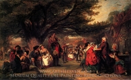 Village Merrymaking painting reproduction, William Powell Frith