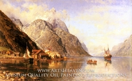 Village on a Fjord by Anders Monsen Askevold
