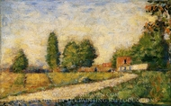 Village Road painting reproduction, Georges Seurat