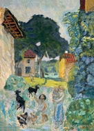 Village Scene, Grasse by Pierre Bonnard