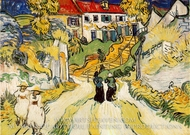 Village Street and Steps in Auvers with Figures by Vincent Van Gogh