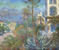 Villas at Bordighera painting reproduction, Claude Monet