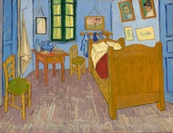 Vincent Room at Arles (The Bedroom) painting reproduction, Vincent Van Gogh