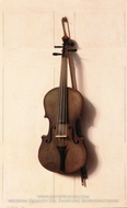 Violin and Bow by Jefferson D. Chalfant