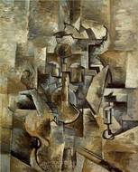 Violin and Candlestick painting reproduction, Georges Braque