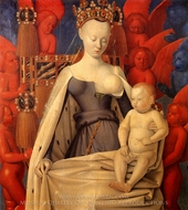 Virgin and Child painting reproduction, Jean Fouquet