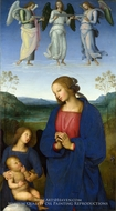 Virgin and Child with Angels painting reproduction, Pietro Perugino