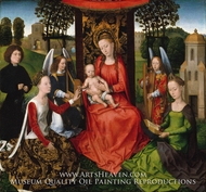 Virgin and Child with Saints Catherine of Alexandria and Barbara by Hans Memling
