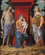Virgin and Child with the Magdalen and St. John the Baptist by Andrea Mantegna
