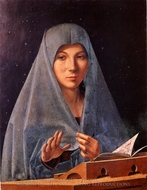 Virgin Annunciate painting reproduction, Antonello Da Messina